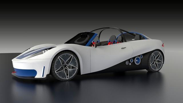 Thiết kế độc đáo của xe đua in 3D trong tương lai