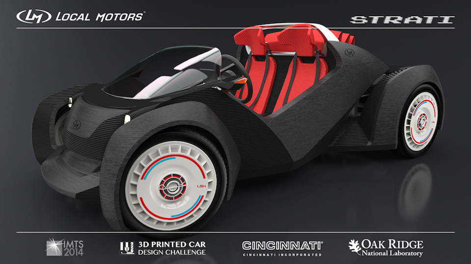 Xem những mẫu thiết kế xe tương lai được chế tạo bằng máy in 3D